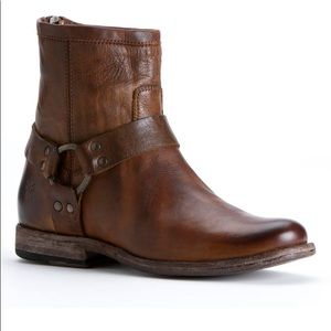 Frye Phillip Harness Light Brown Size 7.5